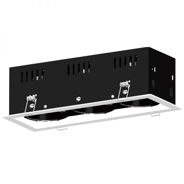 3x15W LED Recessed grille light RR1053W