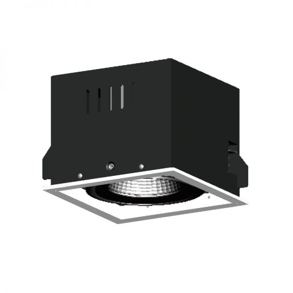 1x25W LED Recessed grille light RR1136W
