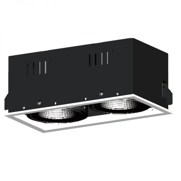 2x25W LED Recessed Grille Light RR1137W