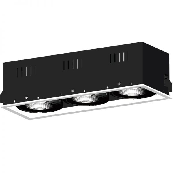 3x25W LED Recessed grille light RR1138W
