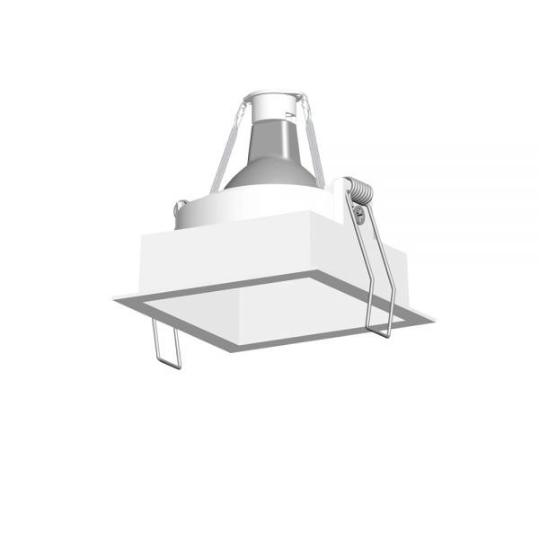 Die-casting aluminum anti-glare square lamp housing RR2005